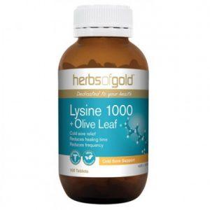 Lysine 1000 + Olive Leaf